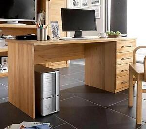 Computertisch holz  Schreibtisch Computertisch massiv holz Kernbuche geölt Büro möbel ...