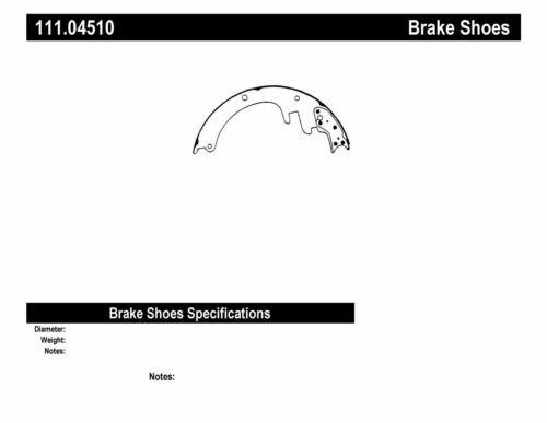 Drum Brake Shoe-Premium Brake Shoes-Preferred Rear,Front Centric 111.04510