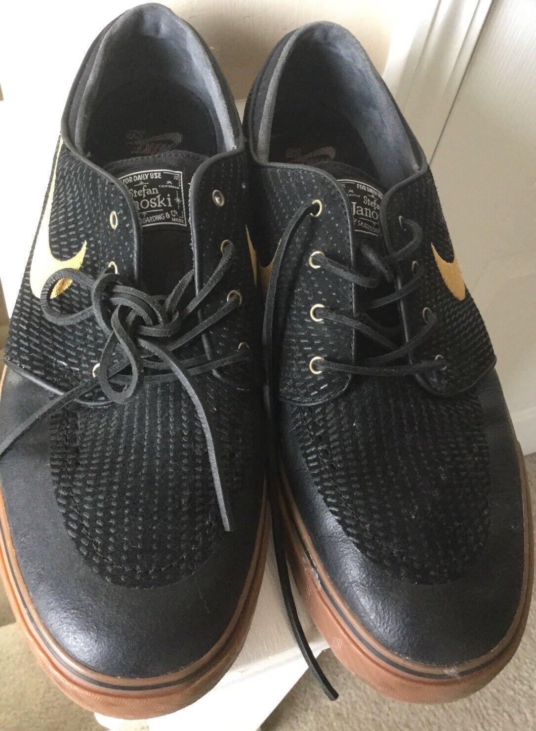 NIKE SB ZOOM STEFAN JANOSKI PR SE BLACK GOLD LIGHT BROWN 631298 020 - SIZE 12 Wild casual shoes