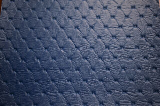 Pacific Blue Embossed Diamond Faux Leather Fabric Vinyl Upholstery
