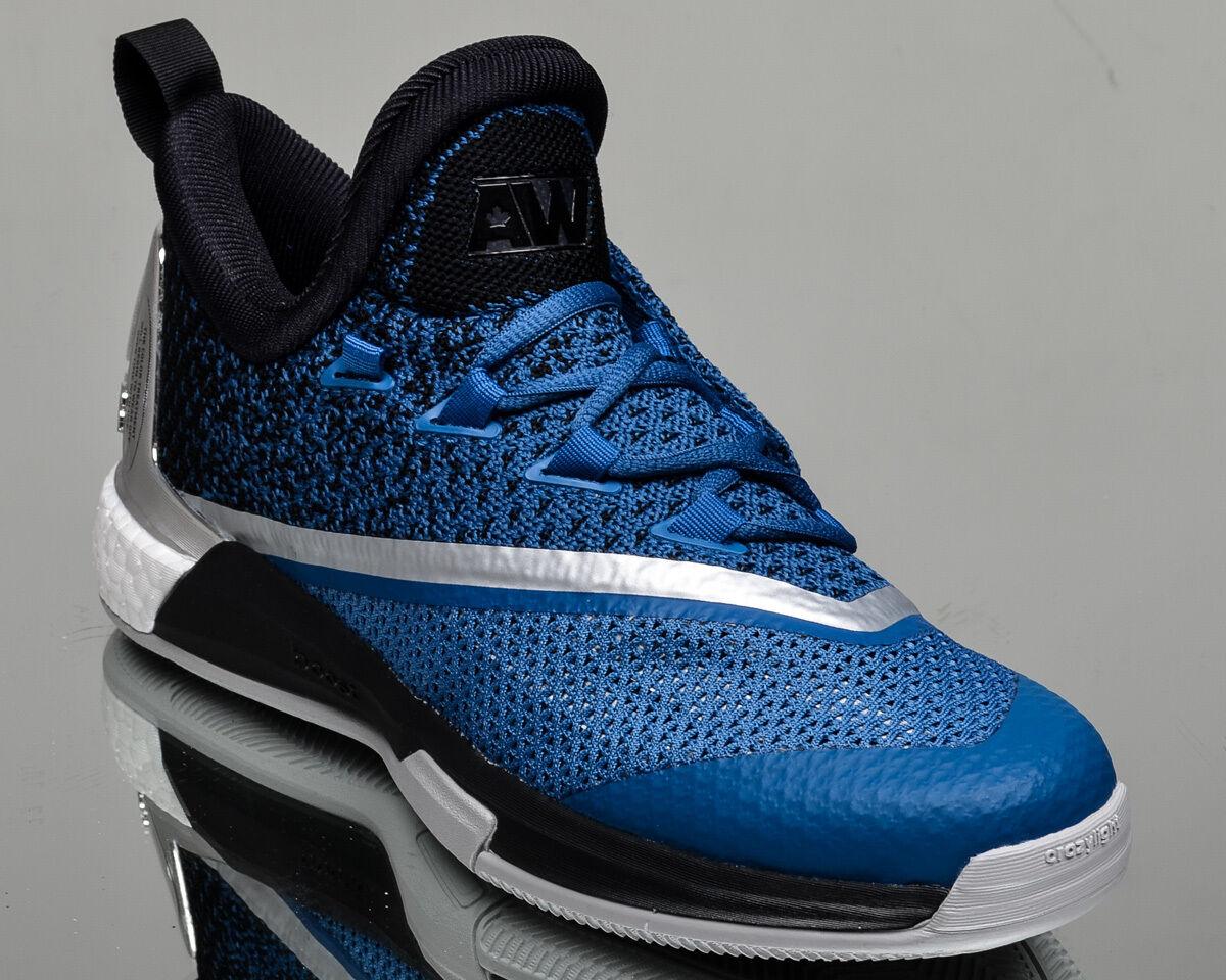 Adidas crazylight impulso scarpe 2,5 basso - uomini scarpe impulso da basket nuova blu scuro e nero 8d4164