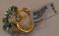 Henri Bendel Turquoise Waldorf Twin Ring Size 7