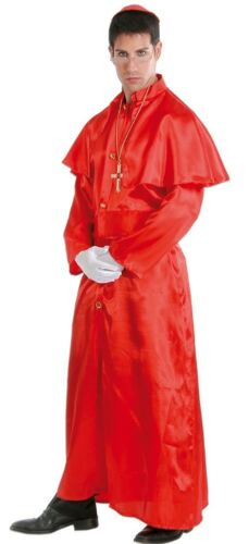Mens Adult Historical Red Cardinal Religious Fancy Dress Costume Outfit L/&XL