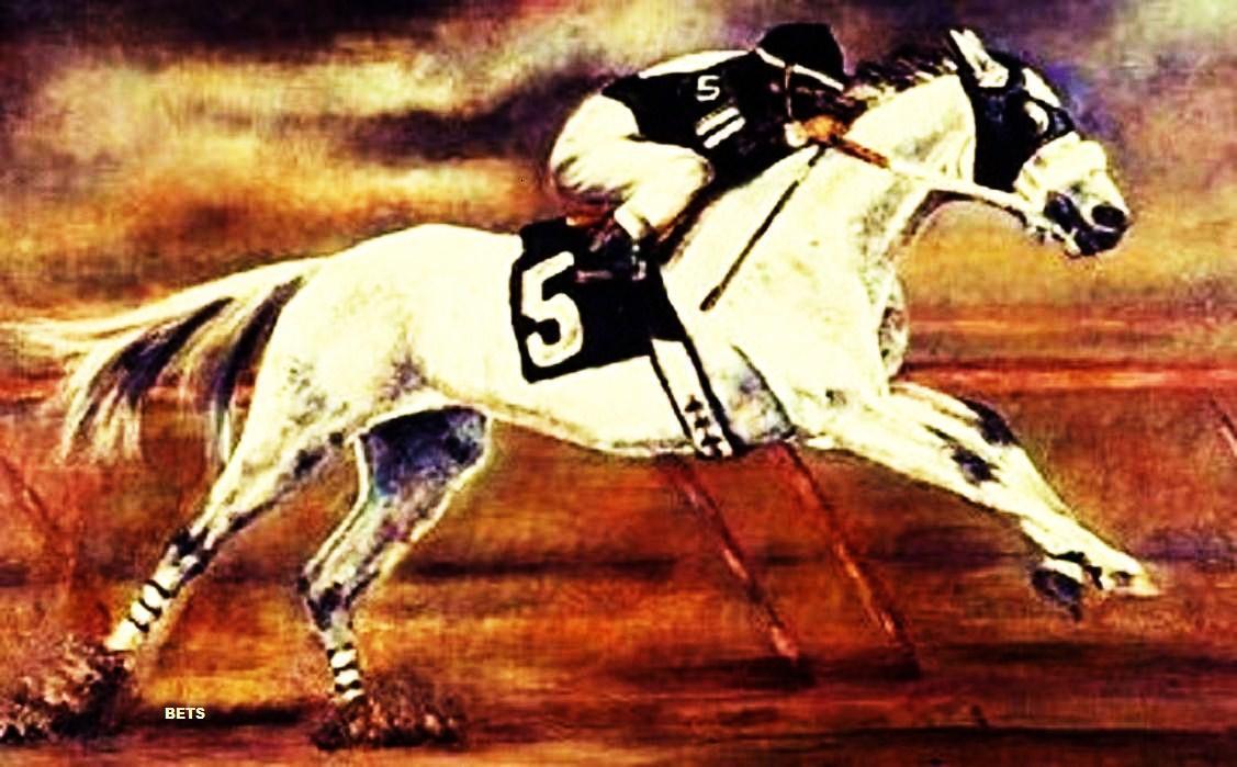 HORSE PRINT Giclee RACE Art RACEHORSE #5 artist BETS 6 COLOR print size 14 X 20