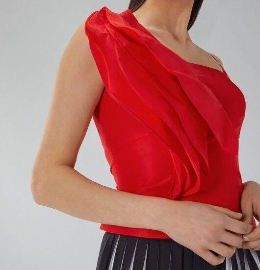 BNWT COSTA     Taglia 14 FLAVIA rosso Top, stile aderente corto BUSTIER DA SERA NUOVO
