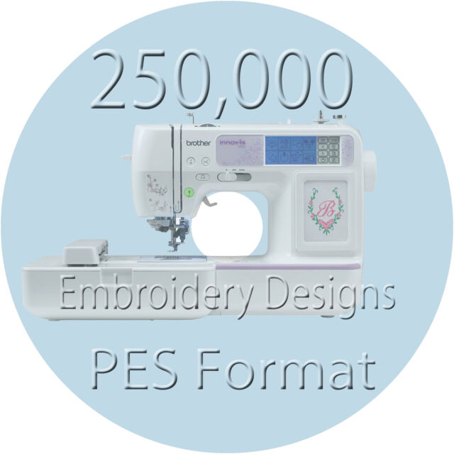 embroidery designs 250000 pes files brother machine ebay