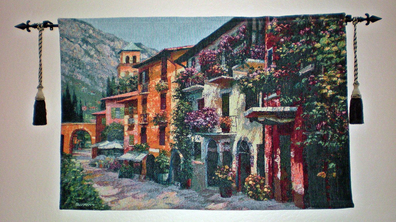 """Village Hideaway"" by Howard Behrens; Tapestry Wall Hanging 53  x35"