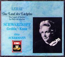 LEHAR Das Land des Lächelns SCHWARZKOPF GEDDA ACKERMANN 2CD Erich Kunz Loose