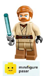 sw449 Lego Star Wars 75012 - Obi-Wan Kenobi Minifigure with Lightsaber - New