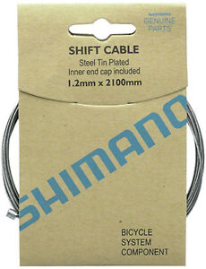 SHIMANO-ZINC-2100MM-BICYCLE-INNER-GEAR-SHIFTER-DERAILLIEUR-CABLE-10-PACK