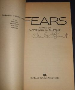 1983-First-edition-PBO-of-Fears-signed-by-the-editor-Charles-Grant-See-Photos