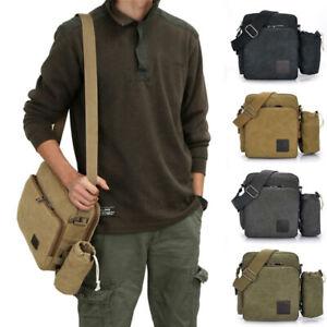 Canvas-Shoulder-Bag-Messenger-bag-Crossbody-bag-Multifunction-Retro-Satchel