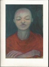 Golden Girl  Blank Card - Serene Tibetan Buddhism Icon for Meditation Zen Yoga
