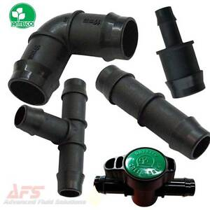 Hose-Joiner-Connector-Mender-Tail-Polyprop-Plastic-Barbed-Fittings-Silicone