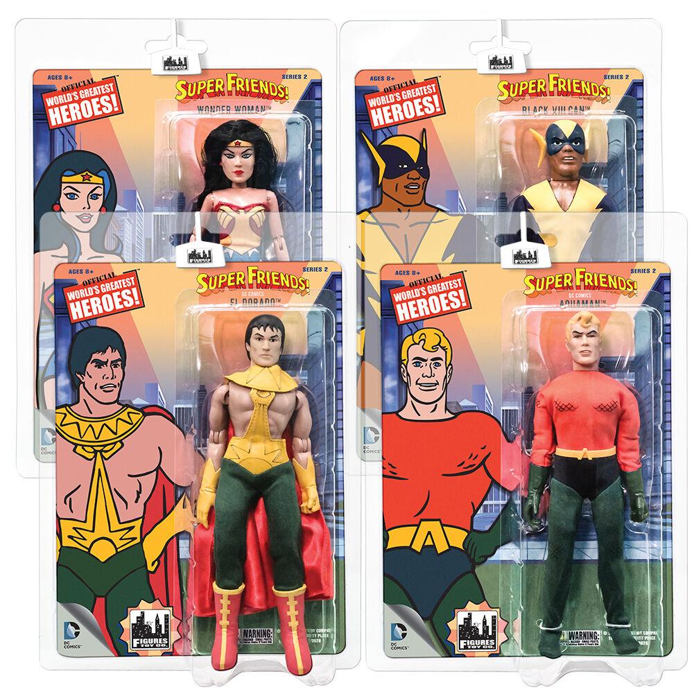 los últimos modelos súper Amigos Estilo Retro Figuras Figuras Figuras De Acción Serie 2  Conjunto de Todos 4 por FTC  ventas en línea de venta