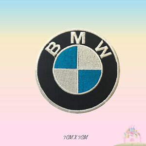 BMW Car Brand Logo Embroidered Iron On Patch Sew On Badge Applique