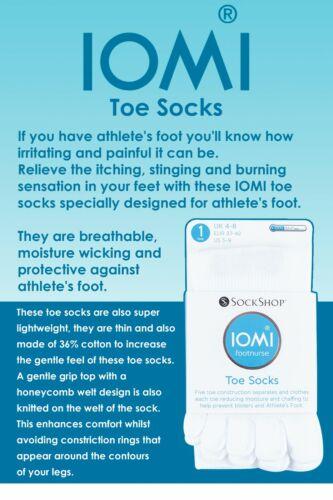 Iomi-Uomo e Donna Leggero Cotone Cinque Toe Socks per gli atleti del piede