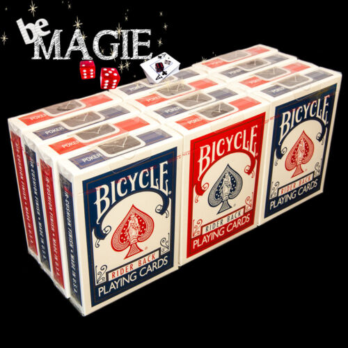 Tour de Magie Poker Cartouche Jeu Bicycle Rider Back  X12