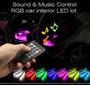 12v interieur auto couleur rgb bande lumiere led