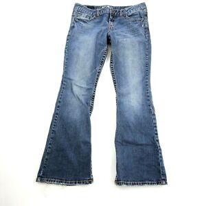 Aeropostale-Women-039-s-Hailey-Skinny-Flare-Jeans-Size-11-12-Medium-Wash-Cotton