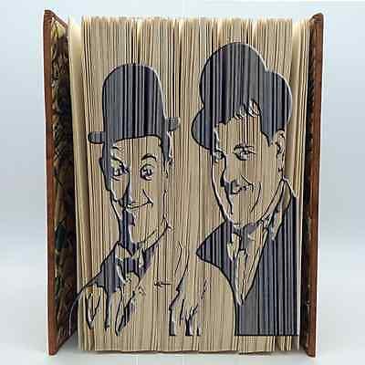 Book Folding Pattern Mark Measure Cut /& Fold Laurel and Hardy