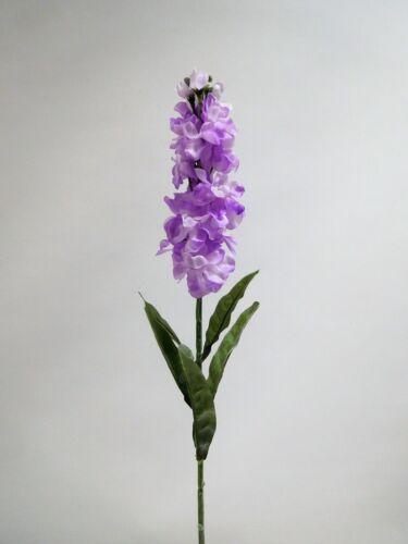 Chevalier Sporn Delphinium de soie fleur art fleur 80 cm n-11735-8 Lilas Violet f13