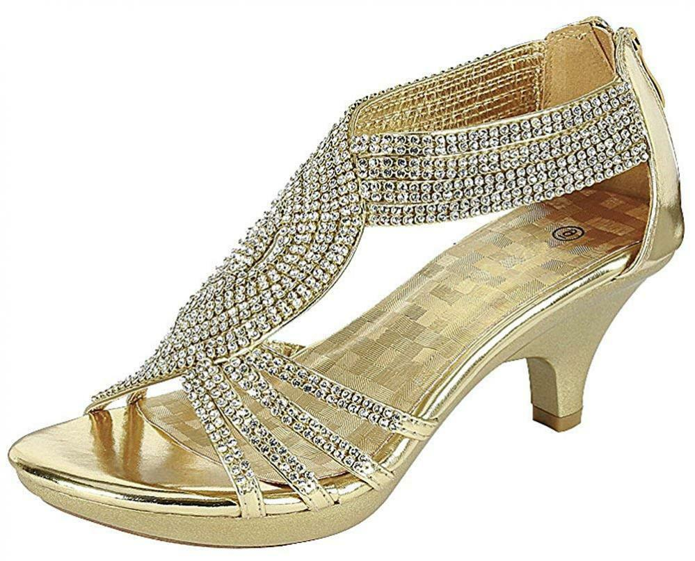Cambridge Select Women's Open Toe Crystal Rhinestone Crisscross Strappy Mid...