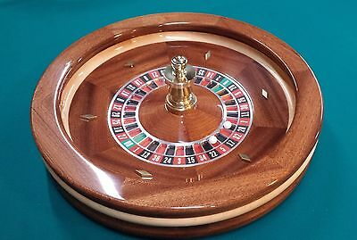 Made in the USA 22 Inch Solid Mahogany Roulette Wheel