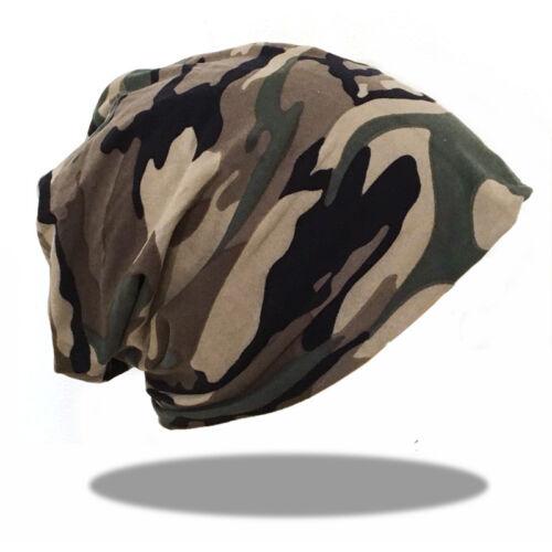XXL Long Beanie Mütze Slouch Unisex Damen Herren Mützen Camouflage grün 215