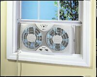 Holmes Hawf2043 Dual Blade Twin Window Fan With One Touch Thermostat , New, Free