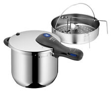 WMF Perfect Plus Pressure Cooker 6.5 Quart With Perforated Insert and Stand