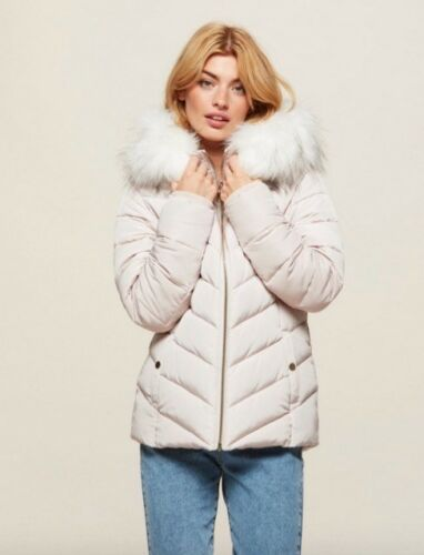 Miss Quiltd Bnwot Jacket Puffer Selfridge Trim Nude Manteau Puffer Cream 12 Taille d8Rcng8WH