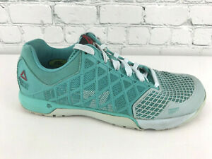 Details about Reebok Crossfit Nano 4.0 Womens Teal Cross Training Shoes Size 8.5