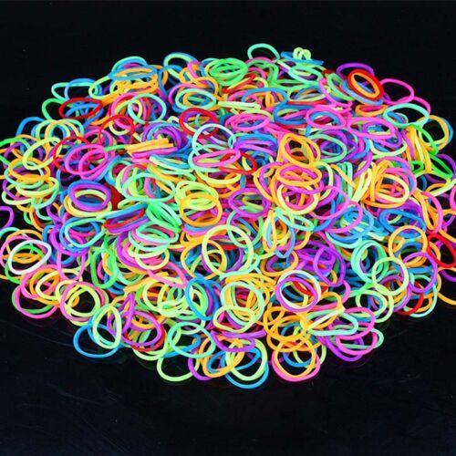 600 bunte Gummibänder viele Farben wählbar sortiert Gummi Gummis Gummiringe