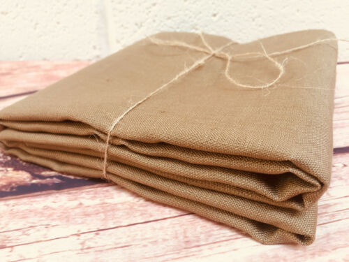 Plain Taupe Brown Soft Linen Fabric Material curtains dress material 140cm wide