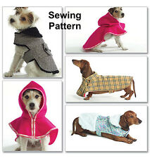 Butterick B4885 Pattern Dog Coats Sizes XS-L BN