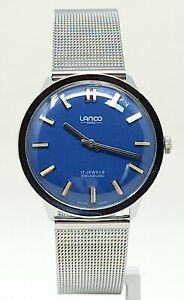 Orologio Lanco vintage watch caliber p 7060 peseoux clock mechanical montre rare