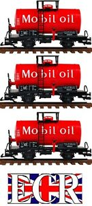 3-YES-THREE-G-SCALE-45mm-OIL-TANKERS-IN-RED-COLOUR-TANK-ROLLING-STOCK-TRAIN