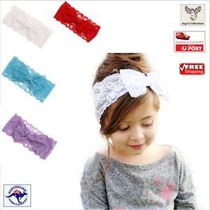 Kids Girl Baby Headband Toddler Lace Bow Flower Hair Accessories Headwear Q0P3