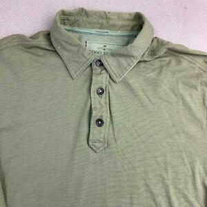 Tommy-Bahama-Polo-Shirt-Mens-L-Green-Short-Sleeve-100-Cotton-Casual-Polo-Shirt
