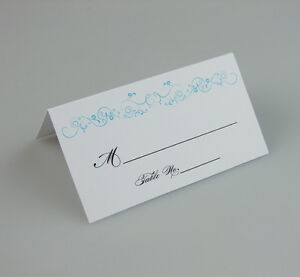 Free personalized elegant wedding place name card seat for Personalized wedding place cards