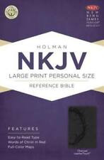 NKJV Large Print Personal Size Reference Bible, Charcoal LeatherTouch (2013, Imitation Leather)
