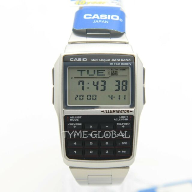 Casio DBC-32D-1A Databank Calculator Stainless Steel Watch DBC 32D