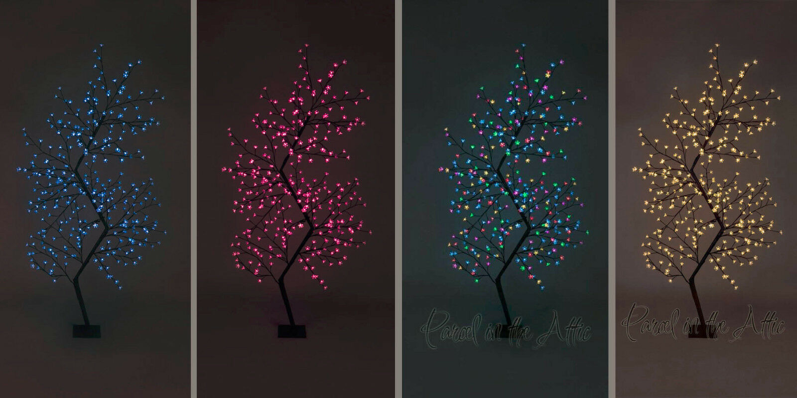 Christmas 210cm 7ft Outdoor Zig Zag Cherry Blossom Tree - 300 LED Fairy Lights