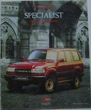 Toyota Range Specialist Previa Land Cruiser II & VX 1991 original UK Brochure