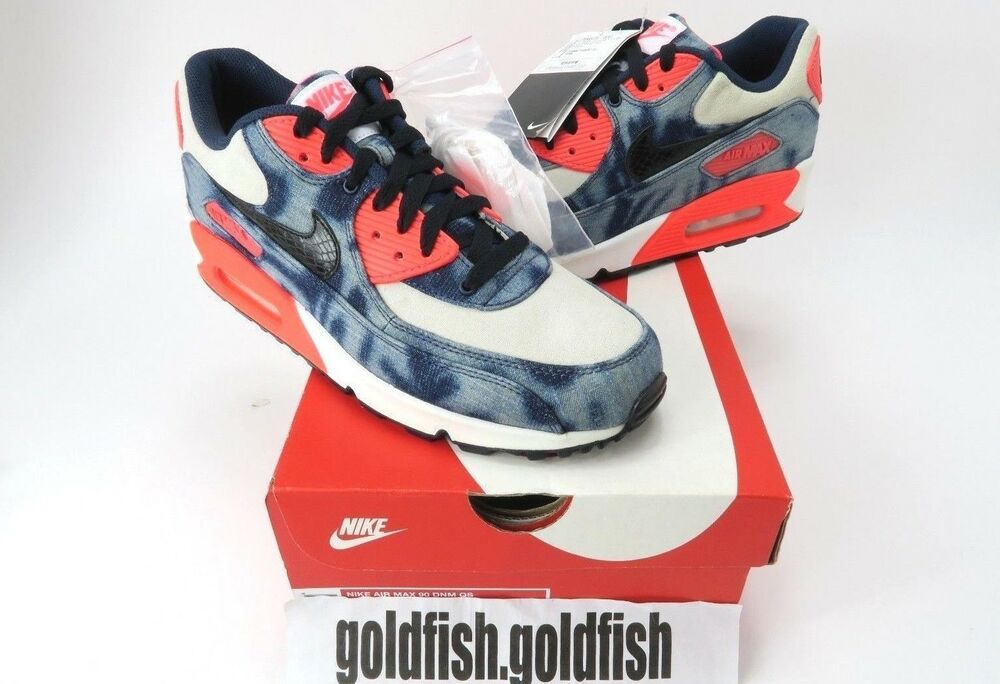 new style f6d82 88628 DS 90 NIKE AIR MAX 90 DS DNM QS INFRA INFRA INFRA rouge WASHED DENIM 700875