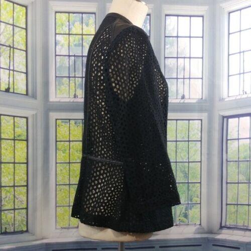 Womens Black 12 Faux Size Peter Eyelet Moto Jacket Leather Zipper Nygard aAwZqZx5nH