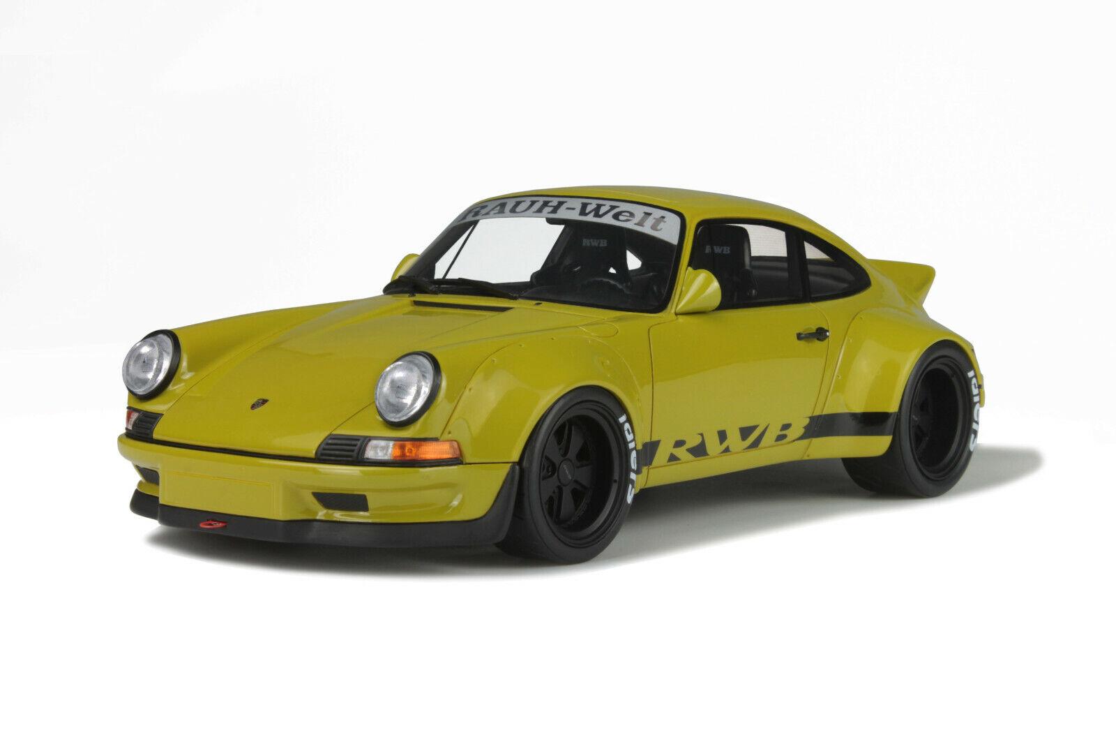 GT Spirit 1 18 Porsche 911 voiturerera 930 RWB Khaki GT120 NEU