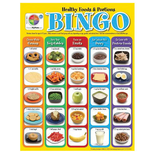 Healthy Foods and Portions Bingo