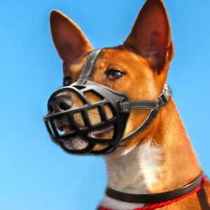Rubber Dog Muzzle For Barking No Bite Basket Cage Small